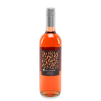A bottle of rosé wine