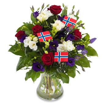 send blomster til norge