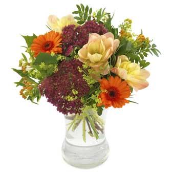 Send en stemningsfuld buket i varme efterårsfarver