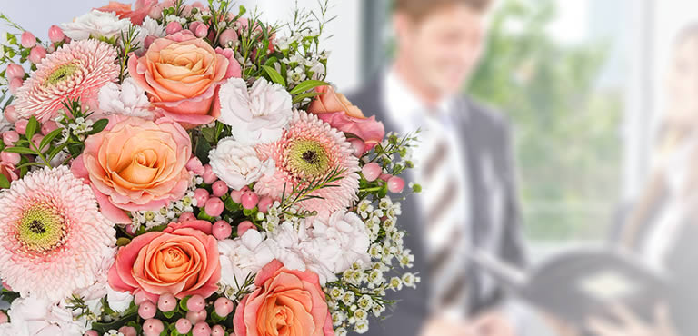 Blomster til jubilaren