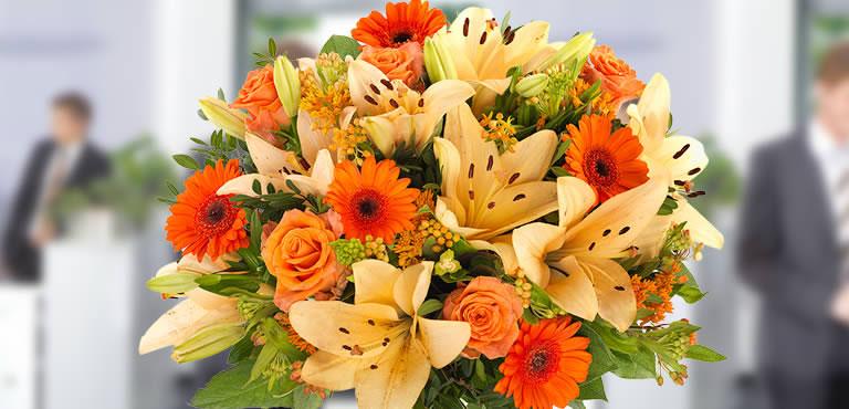 Blomster til receptionen