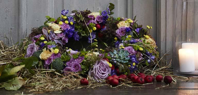 Smukke begravelseskranse