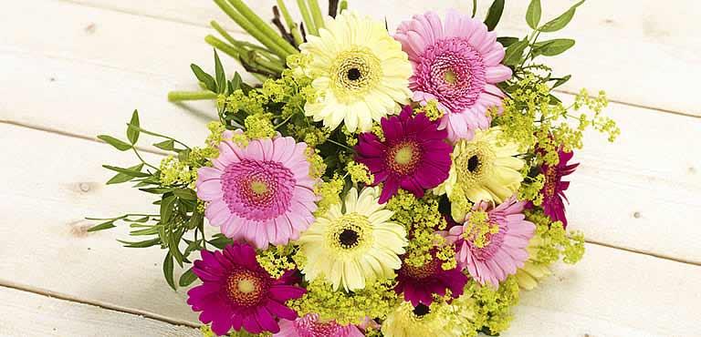 Ønsk god bedring med blomster