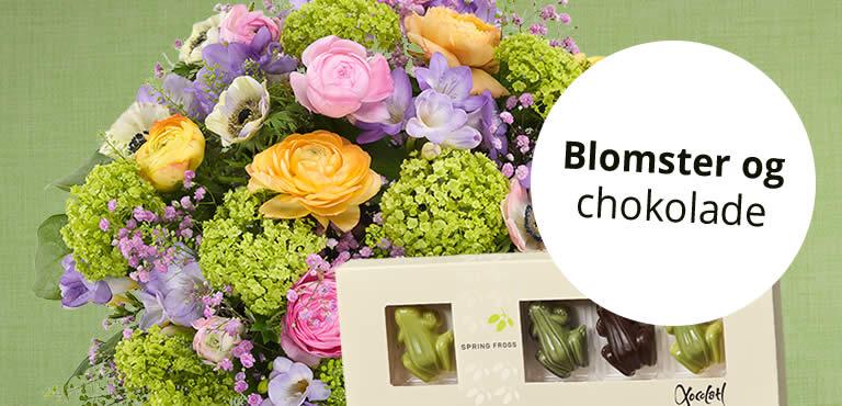 Chokolade og blomster