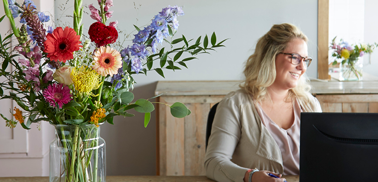 Blomster og gaver til erhverv - bestil nemt og hurtigt