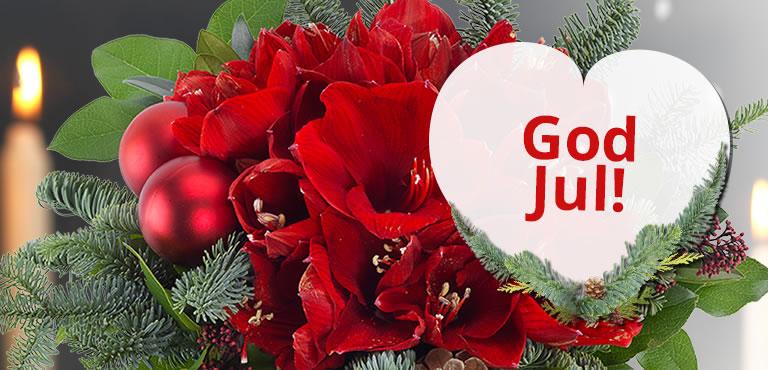 Send glæde med en julebuket